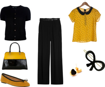 How to wear trousers - Mustard & Black