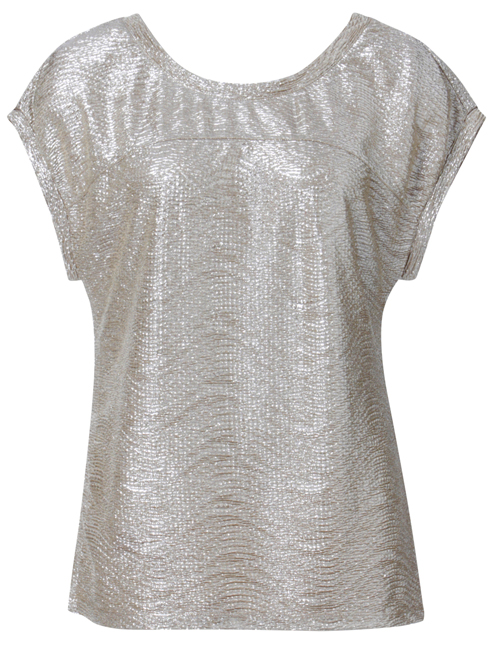 Brown Sugar Metallic Top