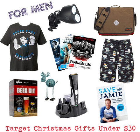 Target Christmas Gifts under $30 for Men