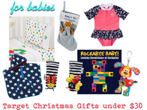 Target Christmas Gifts under $30 for babies