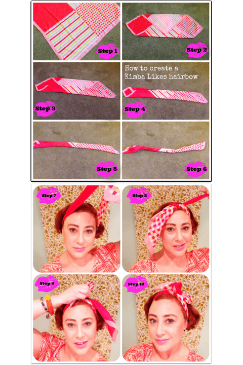 how to tie a scarf into a hair bow