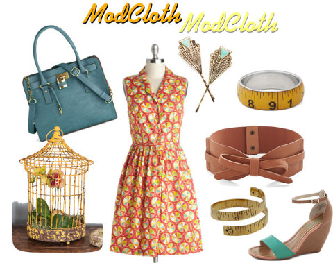 ModCloth | Palette on Parade Dress