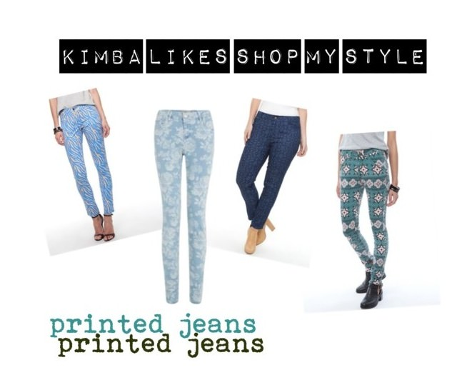 How to cuff printed jeans | Shop My Style