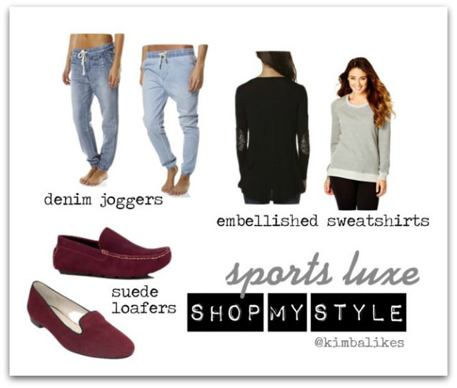 Sports Luxe | Sequin Sweats and Denim Joggers