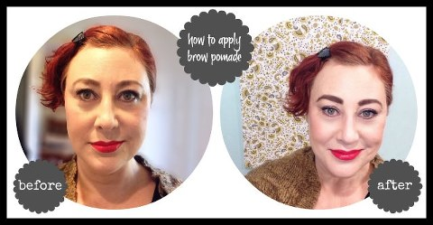 How to apply brow pomade before & after