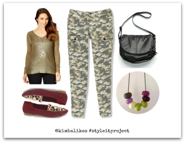 Style It Project August | Skinny Camo Pants