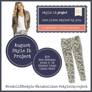Style It Project August | Skinny Camo Cargo Pants