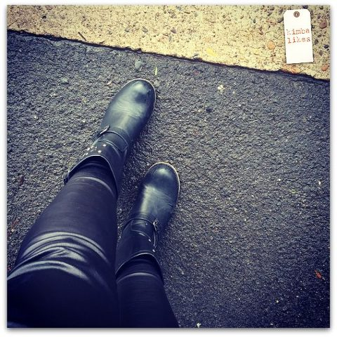 Kimba Likes The SnS Texture Challenge #snstexture | wearing Big W faux leather biker boots with Katies faux leather leggings