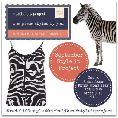 Style it Project September with Kimba Likes and Redcliffe Style | Zebra Print Cami by Peter Morrissey for Big W