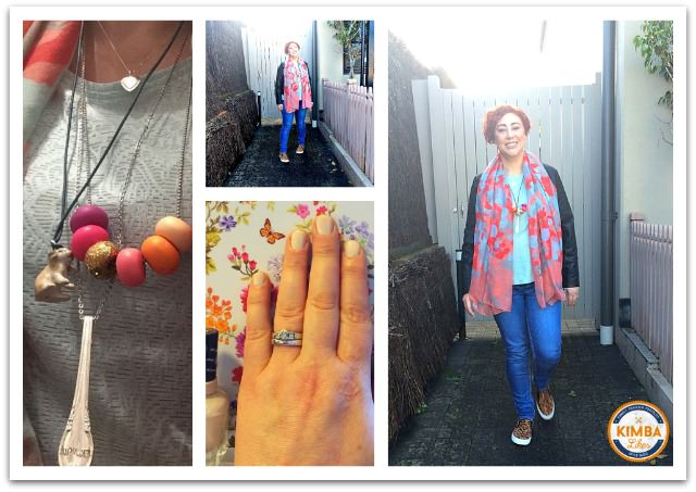 Kimba Likes What I Wore to PB Event | Payless leopard loafers, Bohemian Traders jeans, Katies top, scarf and jacket, jewellery from Uberkate, Formed Design Co, Avalise Jewellery, Honeydew & Violet