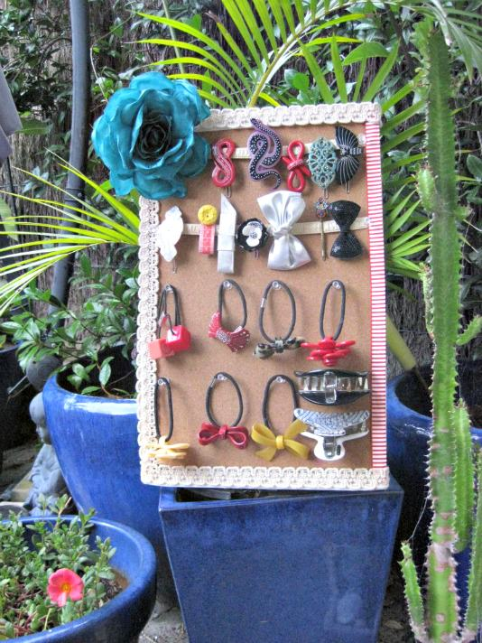DIY Hair Accessory Storage
