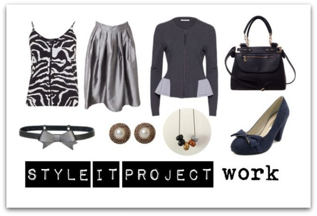 Style it Project September | Peter Morrissey Zebra Print Cami, Shabby Sisters skirt, Metalicus jacket, Colette Hayman bag and earrings, Payless Shoes heels, Alannah Hill belt, Formed Design Co necklace, Colette Hayman earrings