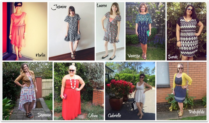 Kimba Likes Frocktober - check out the gorgeous girls who make up Team Kimba Likes and what they frocked for Week 1