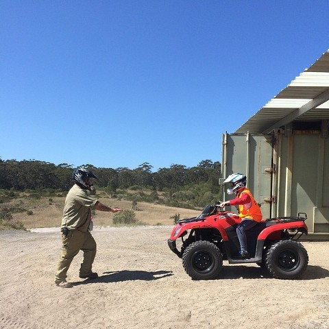 What to do in Nelson Bay and Port Stephens - quadbiking with Sand Dune Adventures