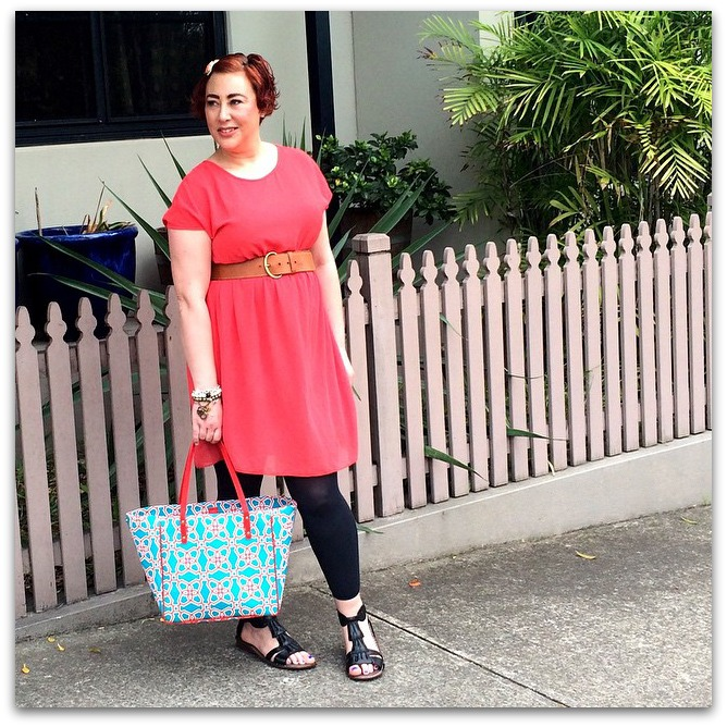 Kimba Likes Frocktober | wearing Popbasic Melodie dress, Trenery belt, Payless Shoes, Mimco hairclip, Jet Empire arm party, Kate Spade NY tote