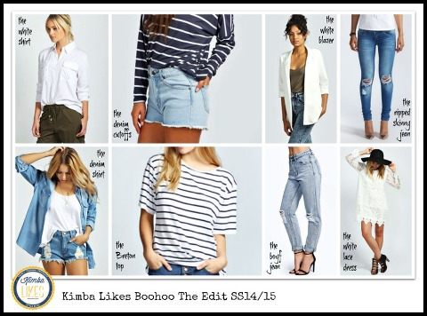 Kimba Likes Boohoo The Edit SS1415 featuring 8 key wardrobe pieces every Antipodean girl should own