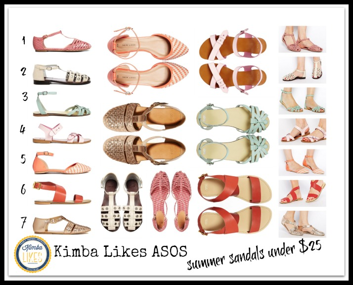 Kimba Likes ASOS Summer Sandals under $25