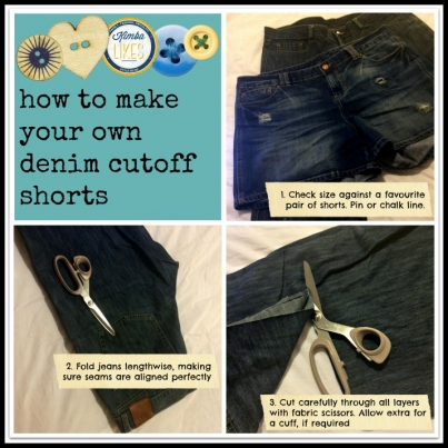 Kimba Likes | how to make your own denim cutoff shorts