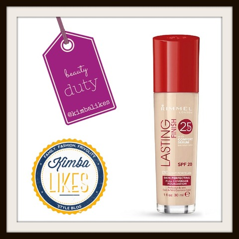 Kimba Likes Beauty Duty - my beauty review of Rimmel Lasting Finish 25 Hour Foundation with Comfort Serum