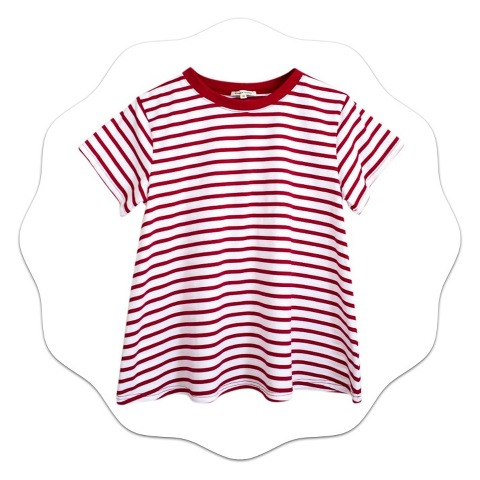 Kimba Likes Wearing Red Stripes Bohemian Traders Striped T Shirt
