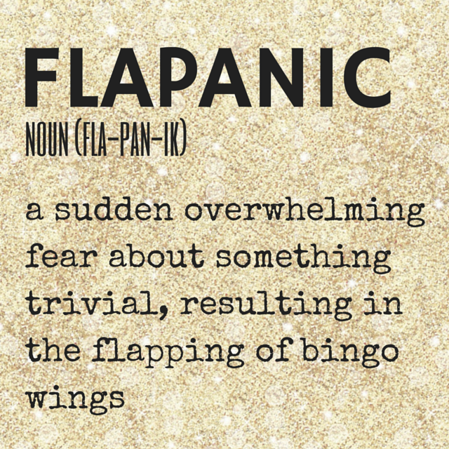 FLAPANIC // a term from the Kimba Likes dictionary