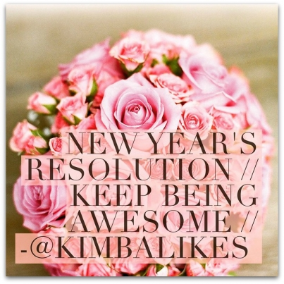 Kimba Likes New Years Resolution