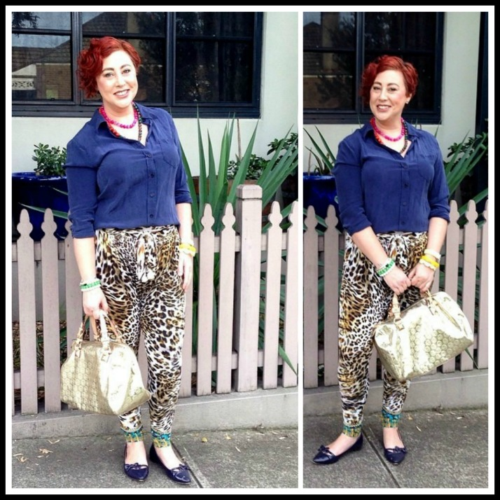 Kimba Likes The Awesome Leopard Print Camilla Pants // Wardrobe Wednesday
