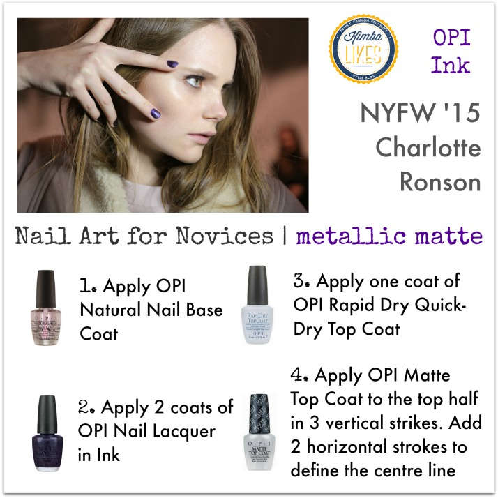 Kimba Likes Nail Art for Novices | NYFW Nail Art 2015 OPI looks