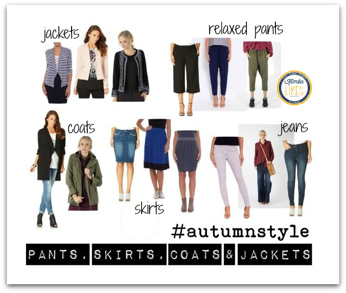 Kimba Likes Autumn Style #autumnstyle My picks of the new season pants, skirts, coats and jackets