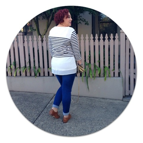How to wear a crop top with a muffin top #kimbalikes @kimbalikes kimbalikes.com