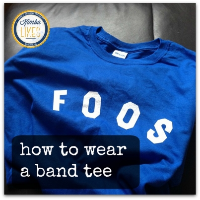 How to wear a band tee @kimbalikes #kimbalikes kimbalikes.com