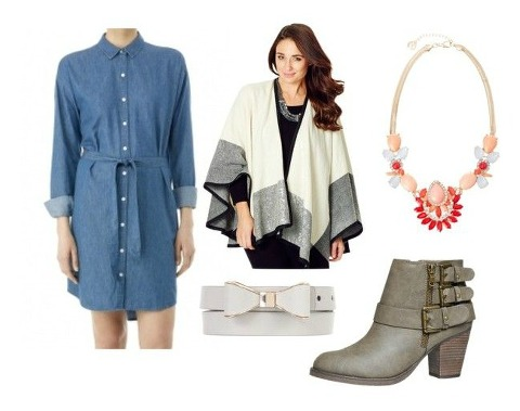 Kimba Likes Style it Project - how to style a chambray shirt dress for winter