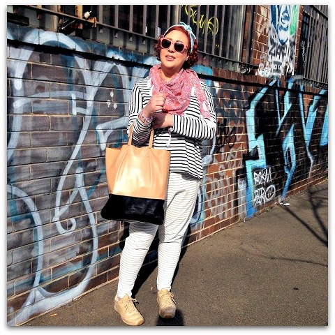 Kimba Likes Casual Chic with a Twist | sharing my casual style for double stripes