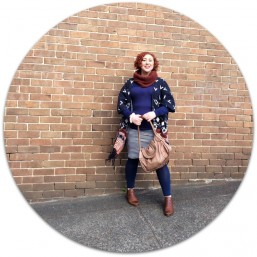 Kimba Likes Style it Project wearing Feather & Noise poncho, Mini & Mone skirt, Country Road knit and cowl, City Chic Online tights, Midas boots and Mimco bag #StyleitProject