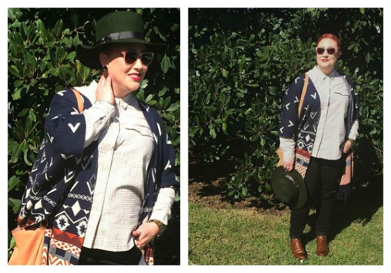 Festival of Kimba Wearing Lack of Color fedora, Country Road pastel check shirt, Mavi skinnies, Midas Chelsea boots, Louenhide bag, Mimco sunglasses, JORD wooden watch, Feather & Noise poncho, Kenzie earrings #whatIwore #fashionblogger #StyleitProject kimbalikes.com