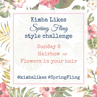 Kimba Likes Spring Fling Style Challenge - 7 days of sharing your style to celebrate Spring! #kimbalikes #SpringFling