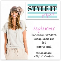 Kimba LIkes Style it Project - the hero piece for September 2015 is the fabulous Bohemian Traders Scoop Neck Tee #styleitproject #kimbalikes kimbalikes.com