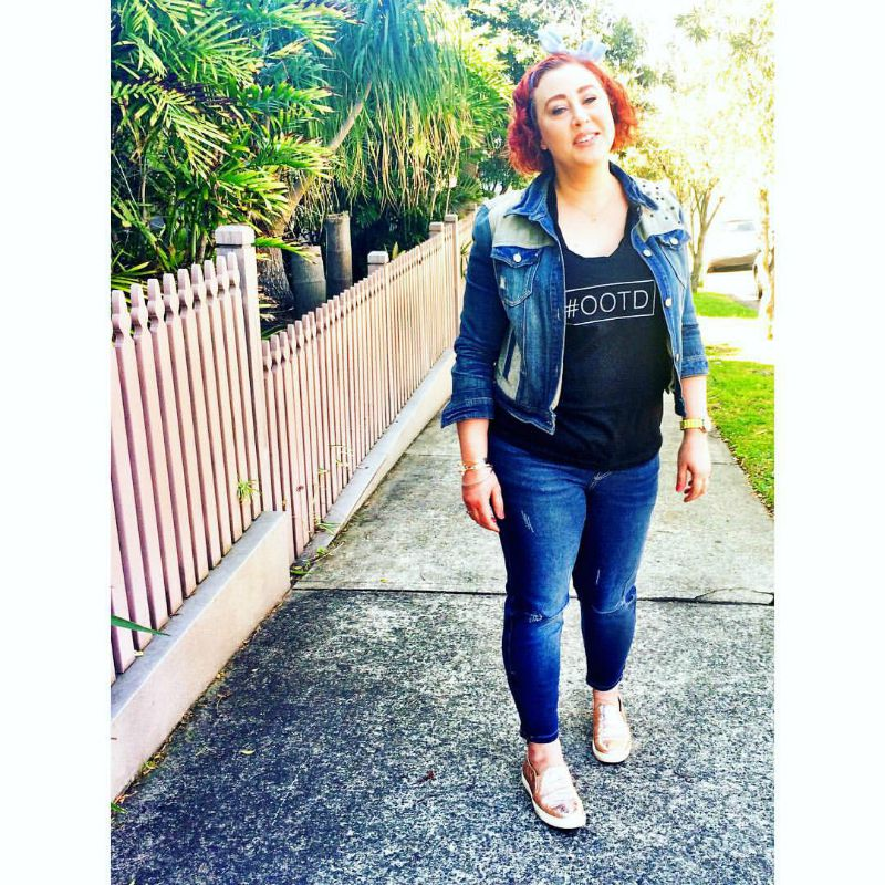 Kimba Likes Double Denim for #SpringFling style challenge - wearing Rockmans jeans, Ruby & Lilli top and DKNY denim jacket with Seed kicks #kimbalikes #SpringFling #doubledenim