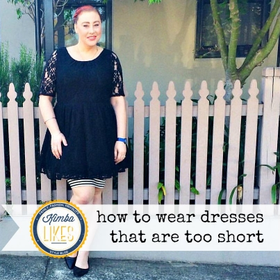 Kimba Likes how to wear dresses that are too short #styletips #kimbalikes