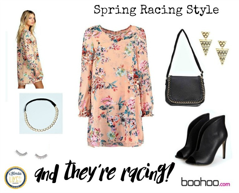 Kimba Likes spring racing with Boohoo - an entire chic outfit for $120 #springracing #boohoo #kimbalikes