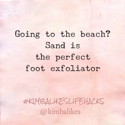 Kimba Likes Tips, Tricks and Life Hacks - life hacks for the beach #kimbalikes #lifehacks