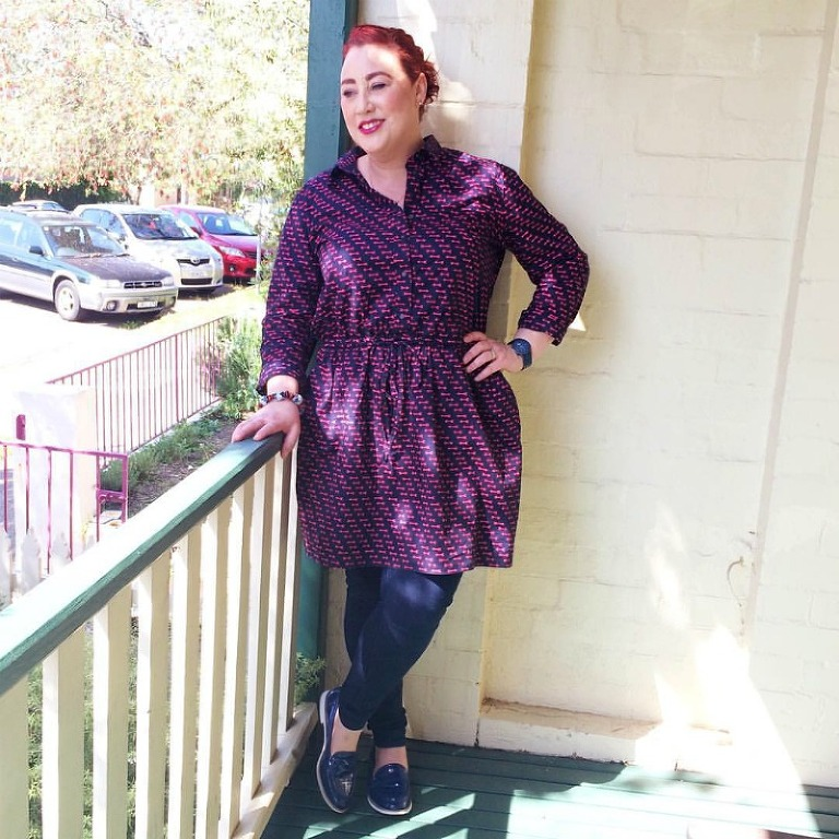 Wearing GAP shirt dress Kimba Likes Frocktober 2015 - sharing the first week of frocks to help raise funds and awareness for Ovarian Cancer #Frocktober #OCRF #kimbalikes