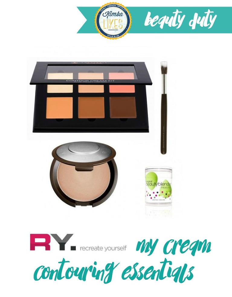 Kimba Likes cream contouring - using products from RY.com #kimbalikes #beautyduty #contouring