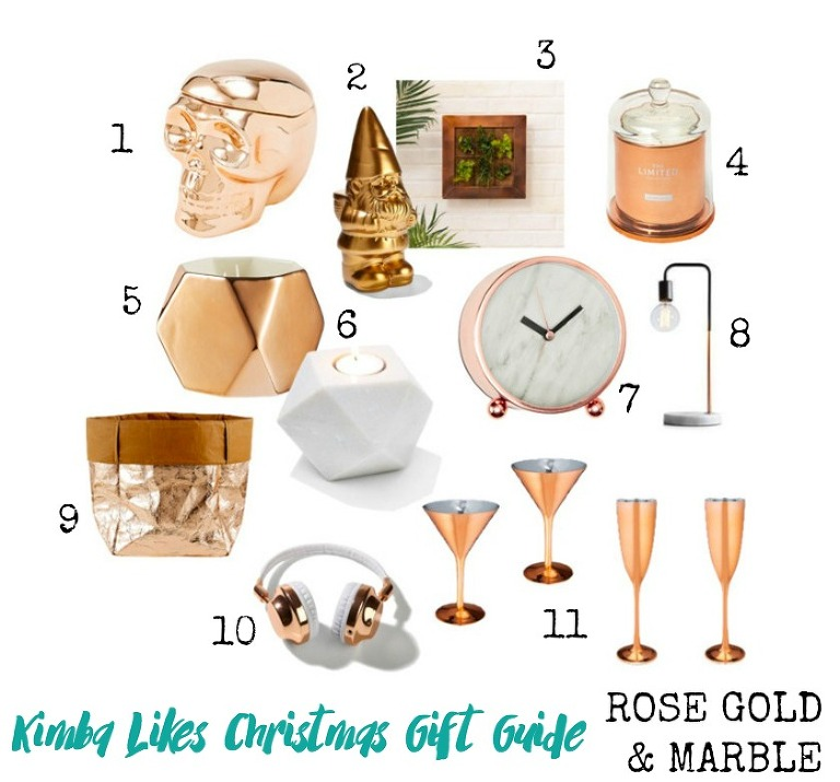 Kimba Likes Christmas Gift Guides 2015 - lusting after copper, rose gold and marble. Check out my picks under $40 from Target and Kmart