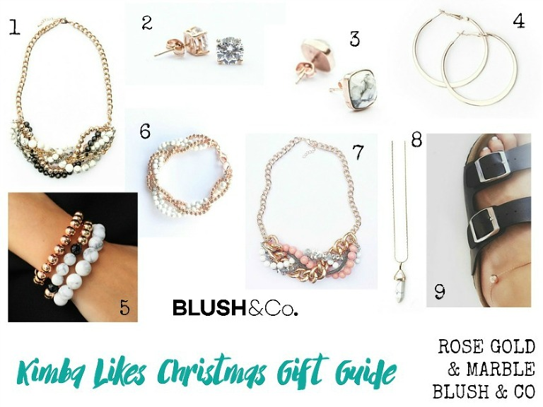 Kimba Likes Christmas Gift Guides 2015 - lusting after copper, rose gold and marble. Check out my picks from Blush & Co