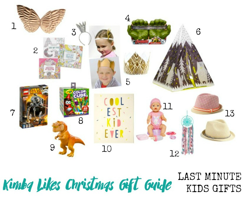Kimba Likes Christmas Gift Guides - last minute Christmas gifts for the kids