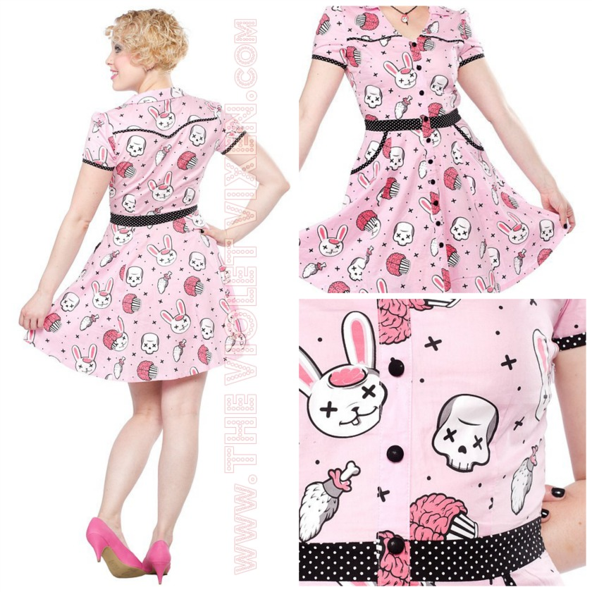 Kimba Likes The Violet Vixen - check out my Hellbilly Zombie Bunnies dress by Sourpuss Clothing from The Violet Vixen #thevioletvixen #kimbalikes