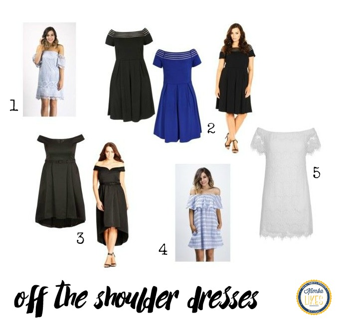 Shop My Style - off the shoulder dresses from City Chic and Feather and Noise