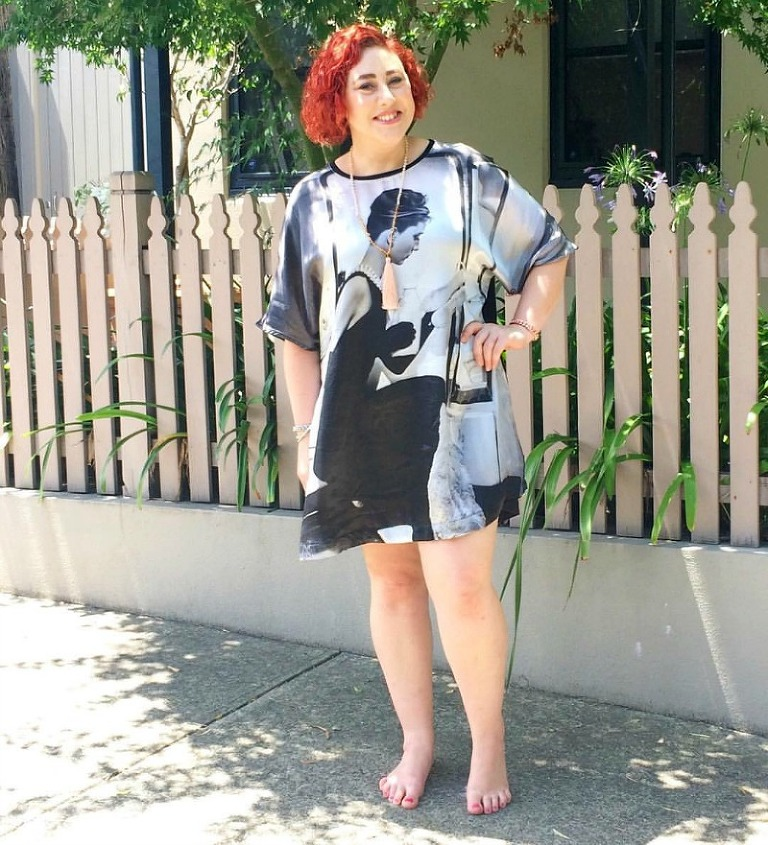 Kimba Likes Christmas holiday style - what I wore in the last week of 2015. Wearing Peter Alexander dress, Shabby Sisters necklace