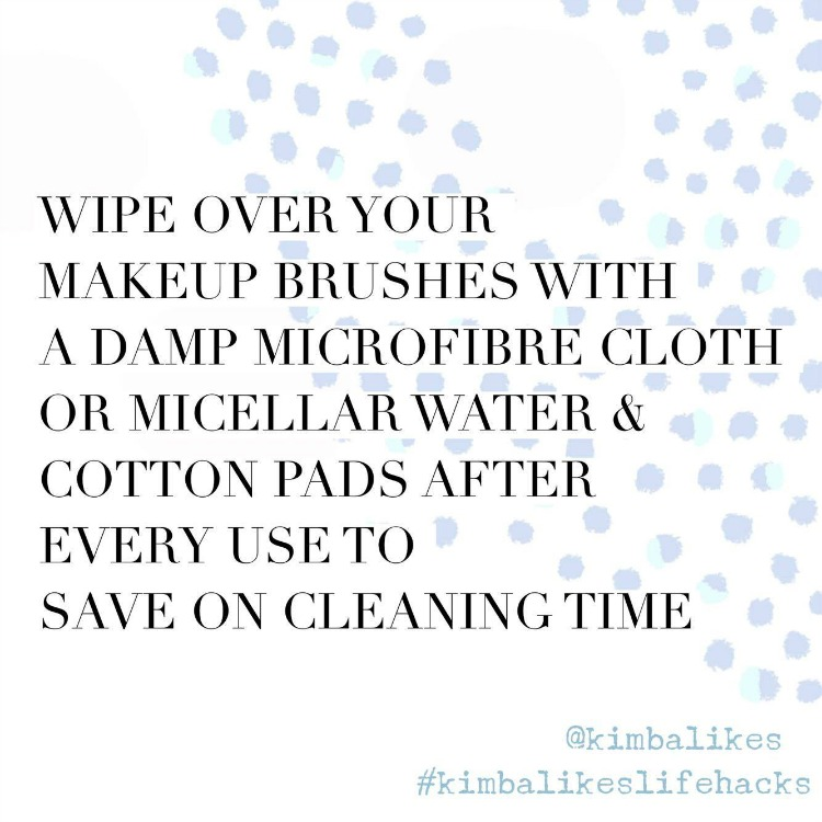 Kimba LIkes Makeup Brush Cleaning Life Hacks - how to clean your makeup brushes